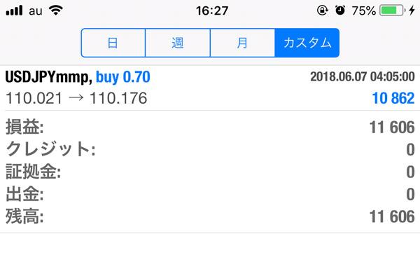 2018-6-11FX自動売買履歴