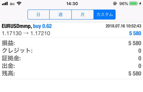 2018-7-16FX自動売買履歴
