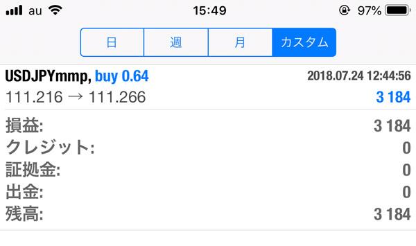 2018-7-24FX自動売買履歴