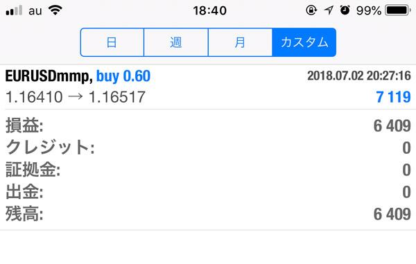 2018-7-4FX自動売買履歴
