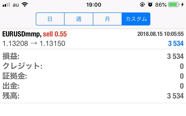 2018-8-15FX自動売買履歴