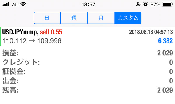 2018-8-20FX自動売買履歴