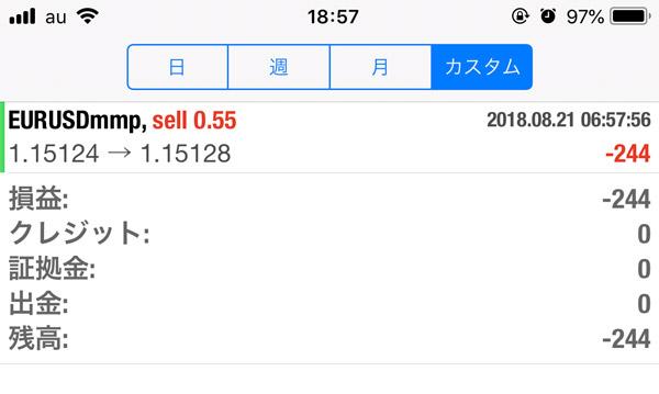 2018-8-21FX自動売買履歴