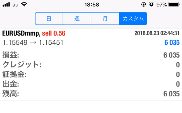 2018-8-23FX自動売買履歴