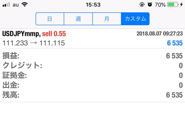 2018-8-7FX自動売買履歴