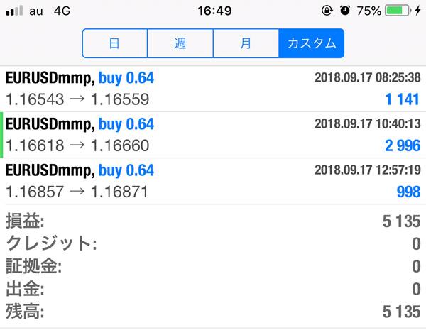 2018-9-17FX自動売買ソフト履歴