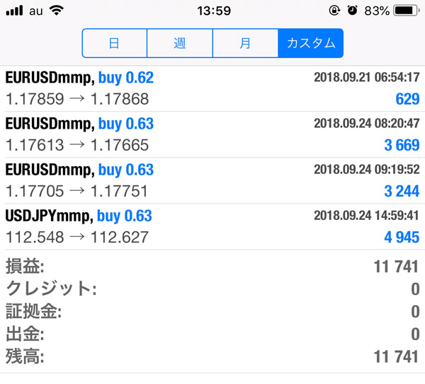 2018-9-24FX自動売買履歴