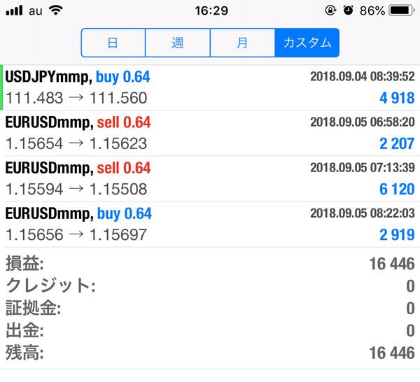 2018-9-5FX自動売買履歴