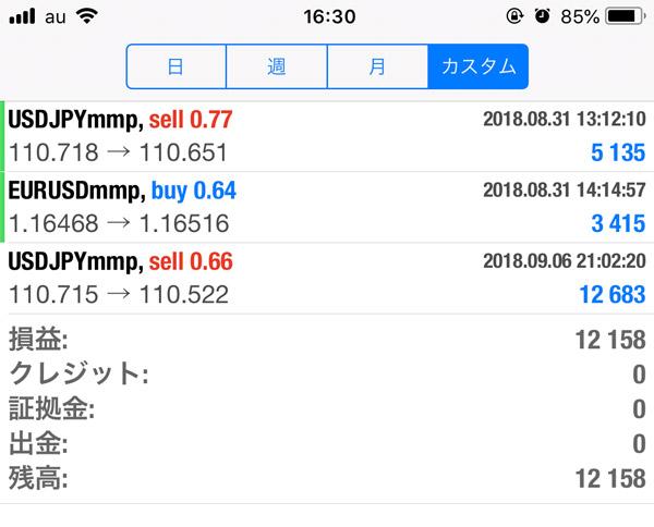 2018-9-6FX自動売買履歴